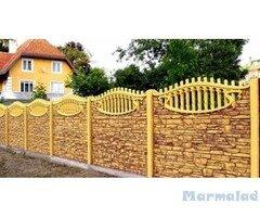 Бетонови релефни армирани огради от сглобяеми панели